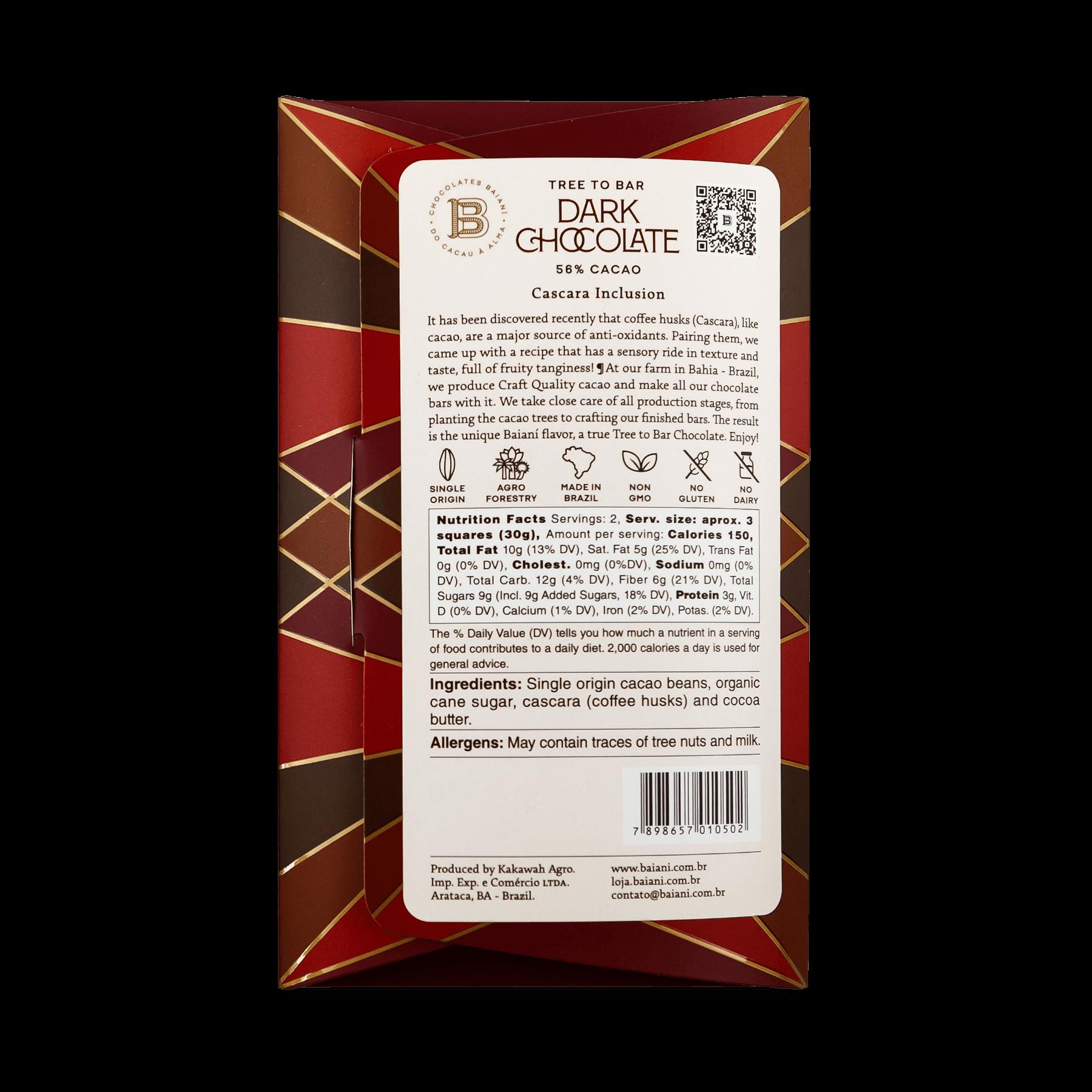 56% Cacao – Cascara (Coffee Husks)