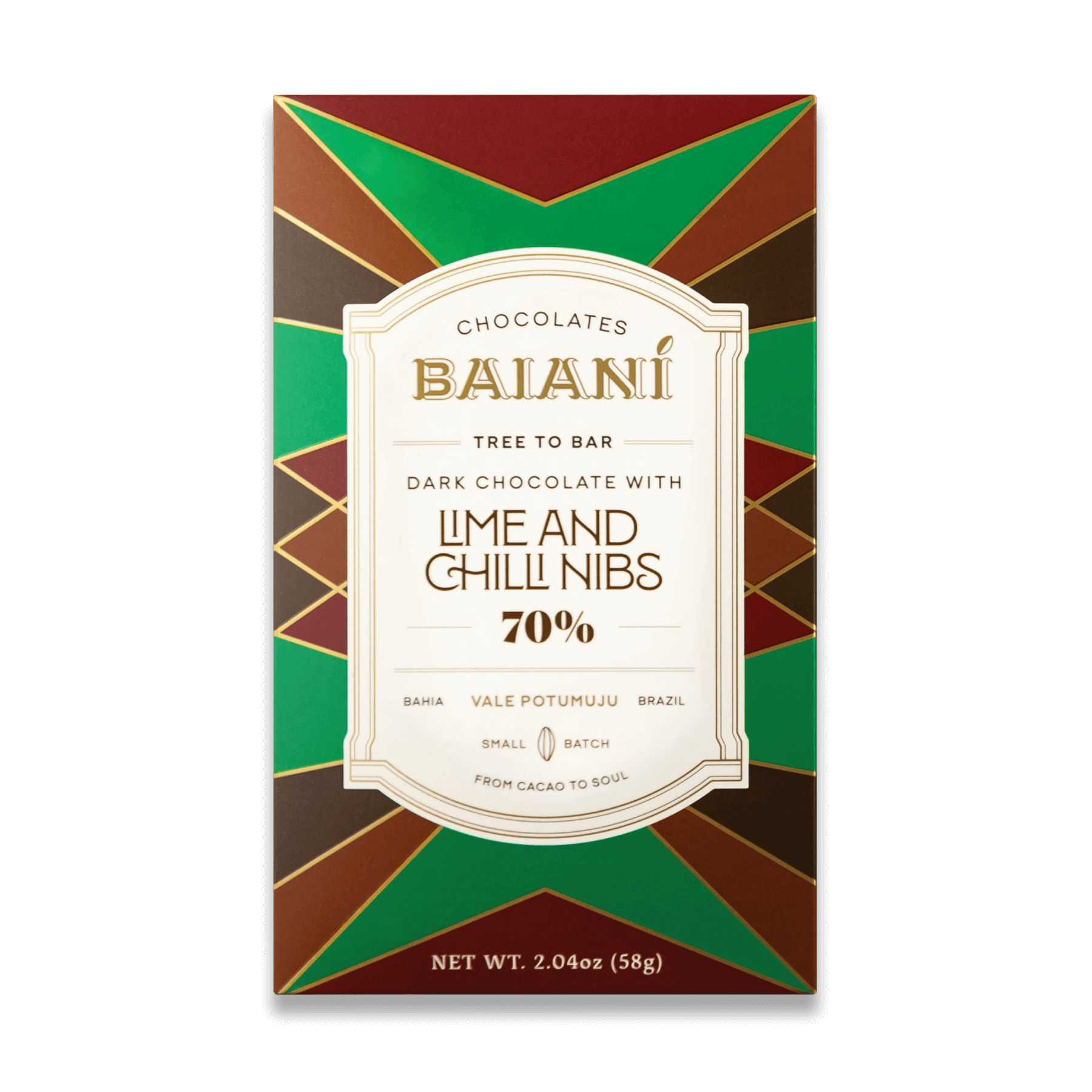 70% Cacao – Lime & Chilli Nibs
